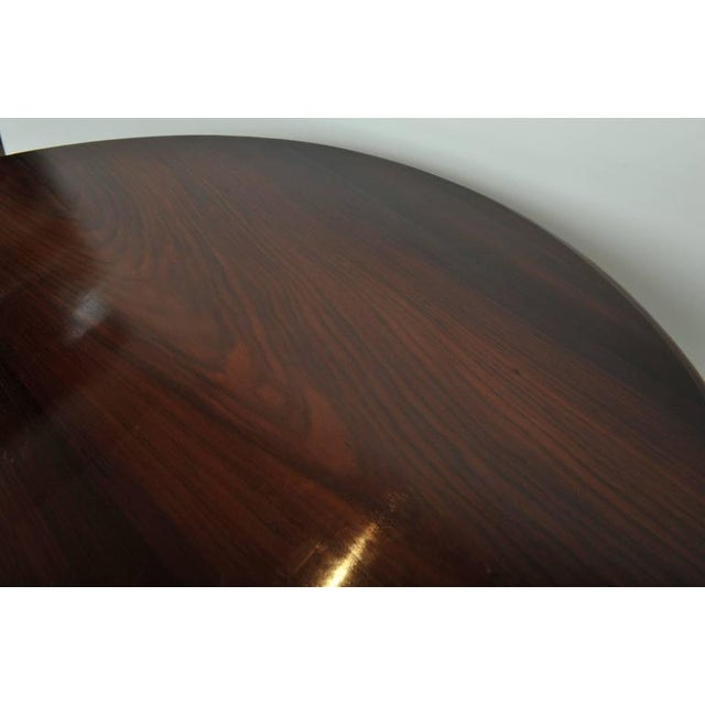 Brown Late 19th Century British Campaign Rosewood Round Dining Table For Sale - Image 8 of 9