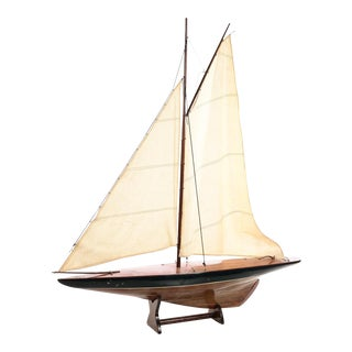 Antique 1920s Model SailBoat w/Stand For Sale