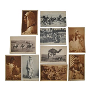 Circa 1910 Lehnert & Landrock North Africa Photo Postcards - Set of 10 For Sale