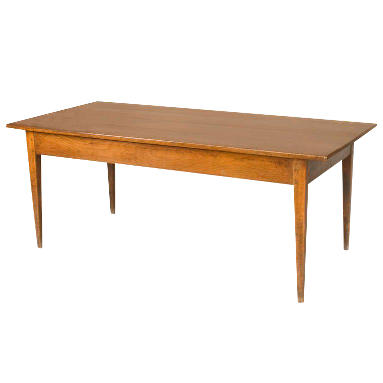 19th Century French Cherrywood Neoclassic Dining Table