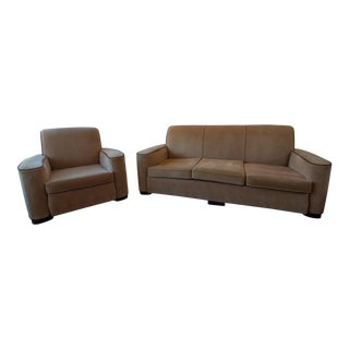 1930s Corvette Couch and Lounge Chair - a Pair For Sale