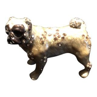 Modern Jay Strongwater Pug Figurine For Sale