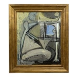 Image of Lucia Lopez Cubist Nude Painting For Sale