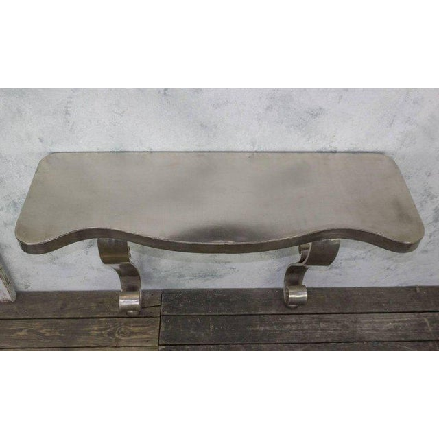 French Polished Steel Console - Image 5 of 11