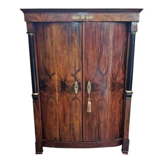Early 19th Century French Empire Armoire Wine Cabinet For Sale