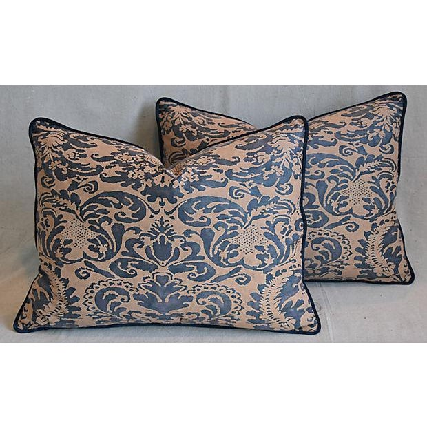 "Italian Mariano Fortuny Corone Feather/Down Pillows 24"" x 18"" - Pair For Sale - Image 11 of 11"