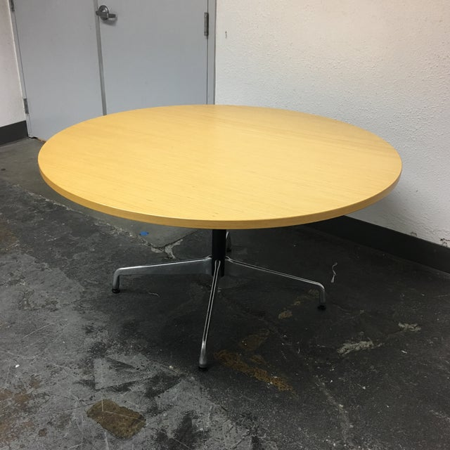 Herman Miller Eames Round Ash Dining Table - Image 6 of 8