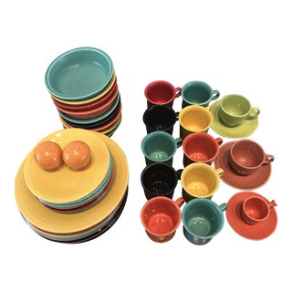 Homer Laughlin Service for 10 Fiestaware - 45 Pc. Set