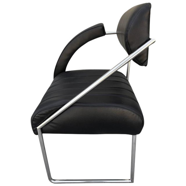 Whimsical Memphis Style Asymmetrically Armed Side Chair - Image 1 of 3