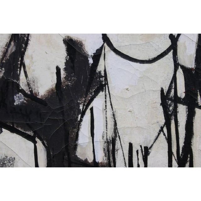 Phil Mann 1961 Original Abstract Painting - Image 4 of 6
