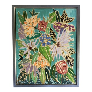 Lulie Wallace Contemporary Flowers Painting For Sale