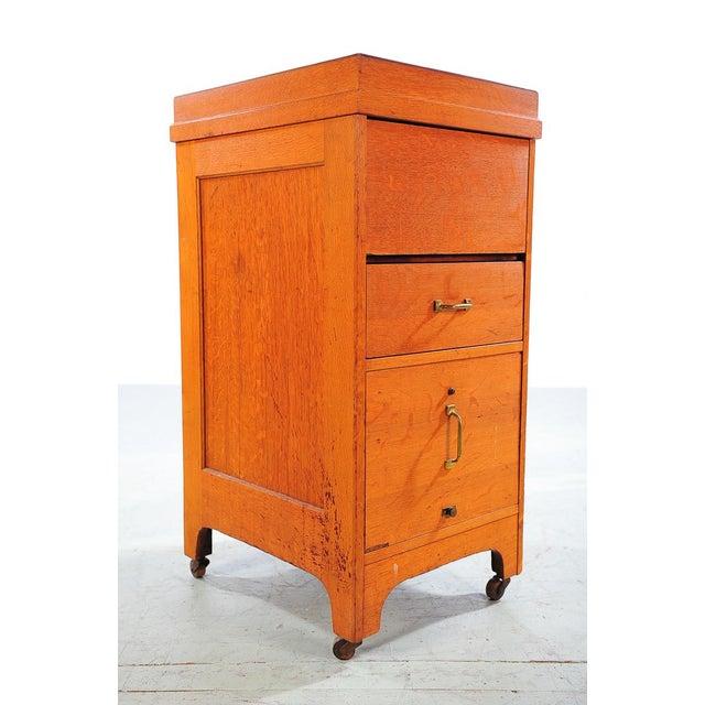 1930s Vintage Oak File Cabinet -2 Drawer - Image 2 of 9