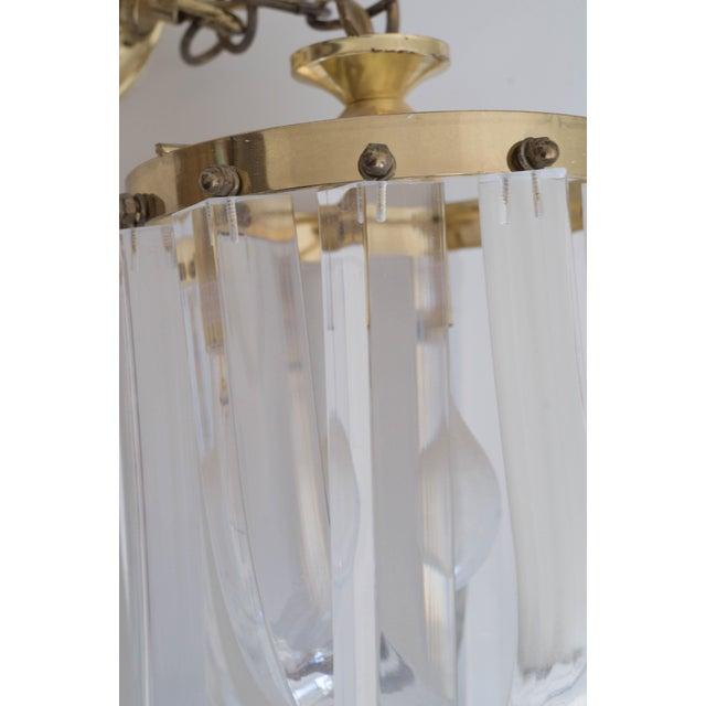Vintage Glam Regency Lucite Ribbon Chandelier Light - Image 5 of 6