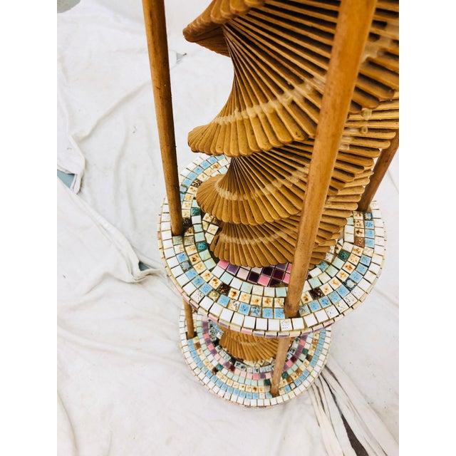 1950s Vintage Folk Arts & Crafts Lamp For Sale - Image 5 of 10