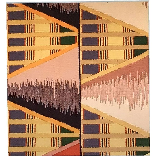 Abstract Geometric Art Deco Rug - 8′ × 10′ For Sale - Image 3 of 4