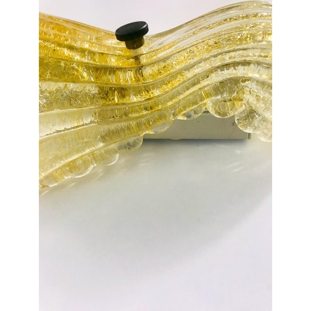 Gold 1960s Mid-Century Modern Shell Shaped Murano Glass Wall Lamps by Fischer Leuchten, Germany- a Pair For Sale - Image 8 of 12
