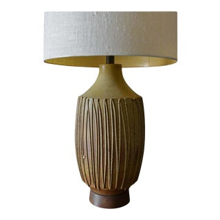 David Cressey Drip Glaze Ceramic Table Lamp, Circa 1970 For Sale