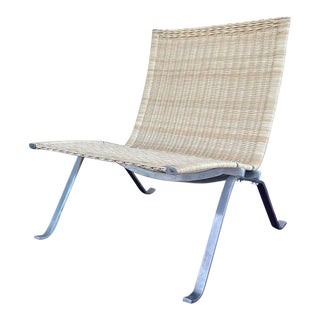 Vintage Mid Century Poul Kjaerholm Pk22 Rattan Easy Chair For Sale
