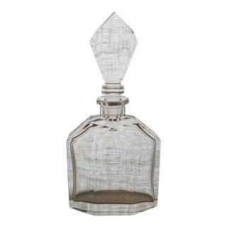 Vintage Geometric Crystal Decanter & Stopper