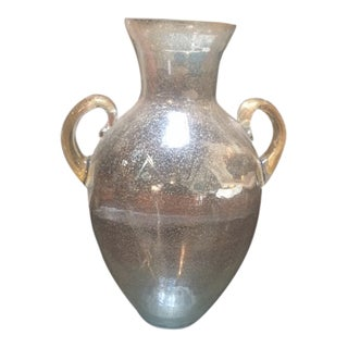 Vintage Murano Vase Mounted on Granite Base For Sale