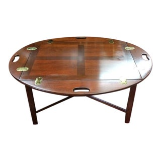 Vintage Traditional Mahogany Butler's Table For Sale