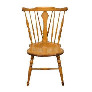 Late 20th Century Vintage Cushman Colonial Maple Dining Side Chair For Sale