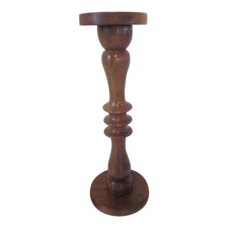 Powell or Coffey styled Studio Handcrafted Walnut Pedestal by Lester Holtz