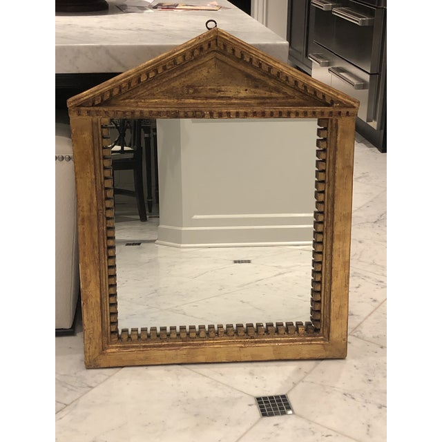 Antique George III Style Pedimented Giltwood Mirror For Sale - Image 13 of 13