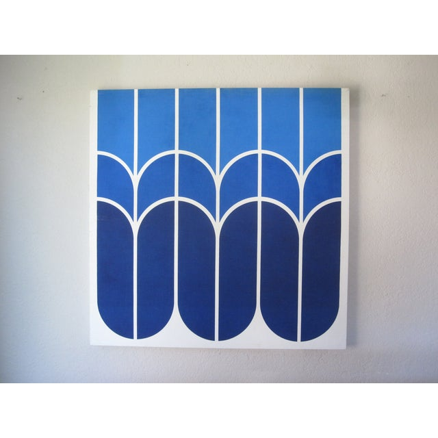 "Vintage 1970s Large-Scale Graphic Art ""Tulip"" - Image 3 of 5"