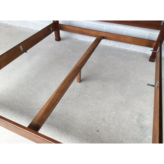 Brown Henredon Mahogany King Size Chippendale Style Rice Tobacco Poster Bed For Sale - Image 8 of 13