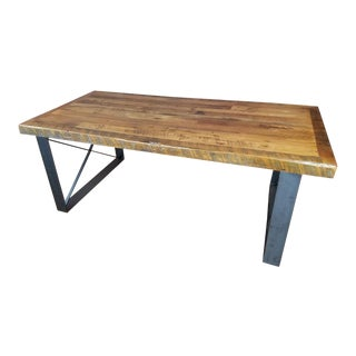 Industrial Reclaimed Barn Wood Writing Desk For Sale