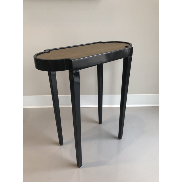 Animal Skin Tricorn Black & Brown Shagreen Oomph Tini Table For Sale - Image 7 of 7