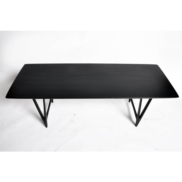 Mid Century Modern Painted Black Teakwood Coffee Table For Sale In Chicago - Image 6 of 13