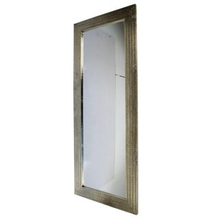 Moroccan Tall Silver Mirror For Sale