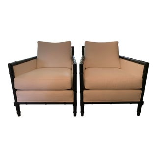 Modern Black and White Accent Chairs- a Pair For Sale
