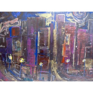 Downtown Los Angeles Abstract Painting Juan Guzman For Sale