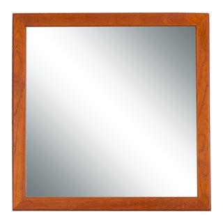 1960s Aksel Kjersgaard Danish Minimalist Teak Wall Mirror For Sale