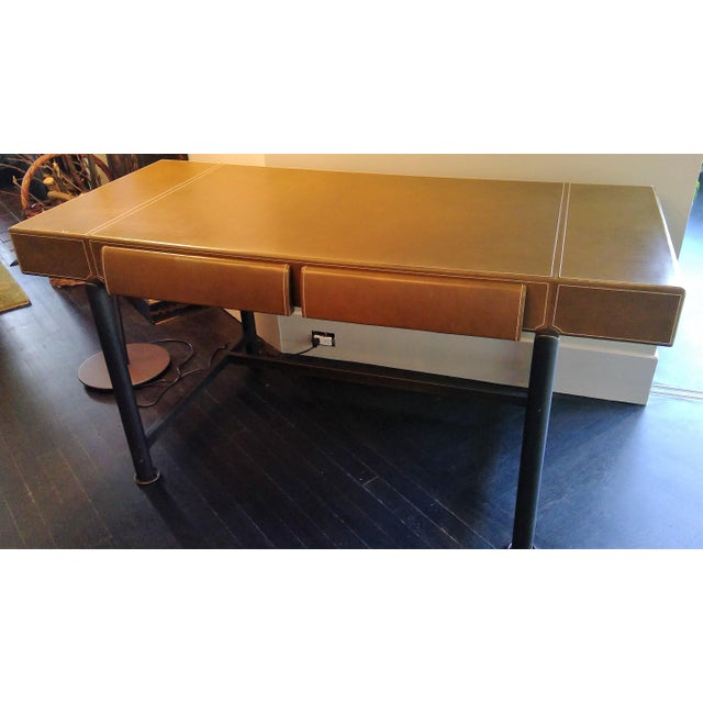 2000 - 2009 Modern Promemoria Leather Writing Desk For Sale - Image 5 of 5