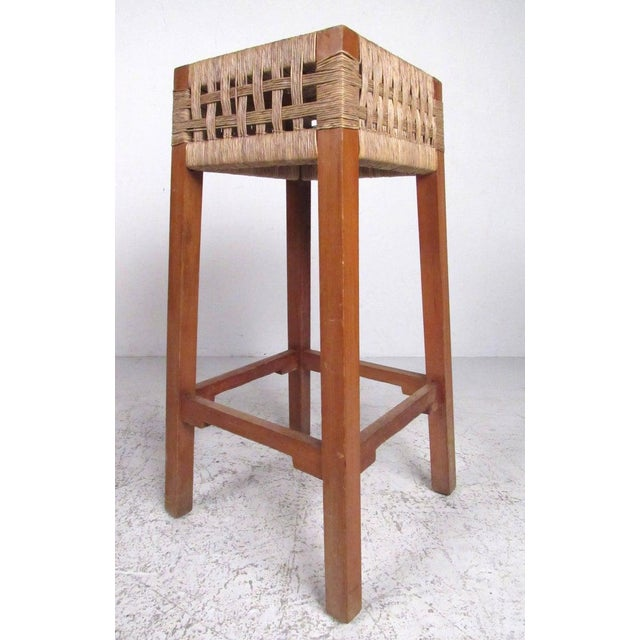 Tropical Tiki Style Dry Bar With Stools For Sale - Image 4 of 11