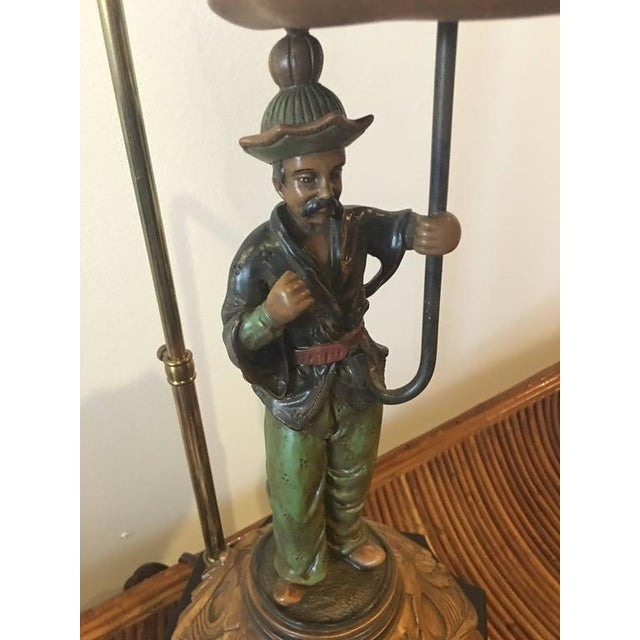 Metal Chinoiserie Pagoda Oriental Table Lamp For Sale - Image 7 of 10