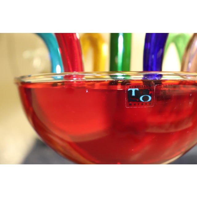 Vintage Primary Color Mid-Century Modern Murano Glass Chandelier For Sale - Image 11 of 13