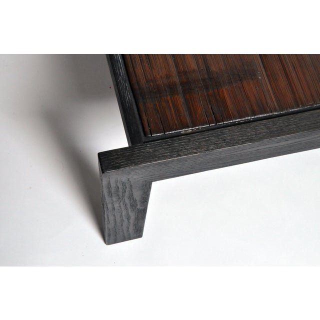 Custom Bamboo Top Coffee Table For Sale - Image 12 of 13