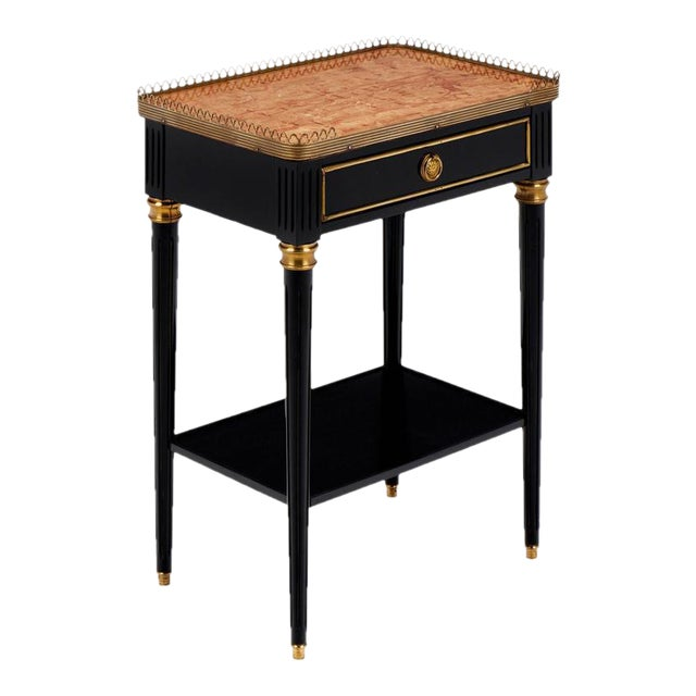 "Louis XVI ""Brêche d'Alep"" Marble-Top Side Table - Image 1 of 11"