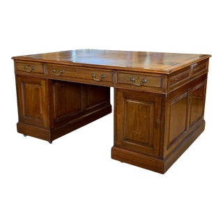 Early 20th Century English Partners Desk For Sale