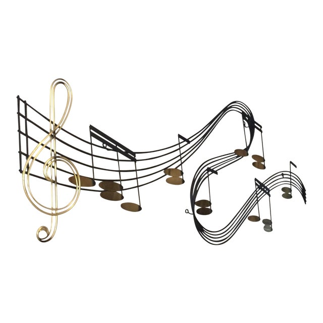 C Jere Music Motif Wall Sculpture Signed For Sale