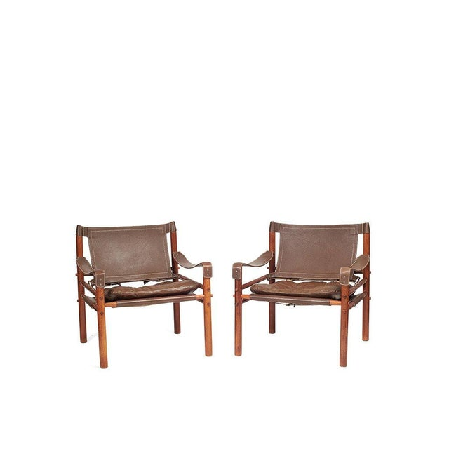 Arne Norell Safari Chairs - A Pair - Image 2 of 8