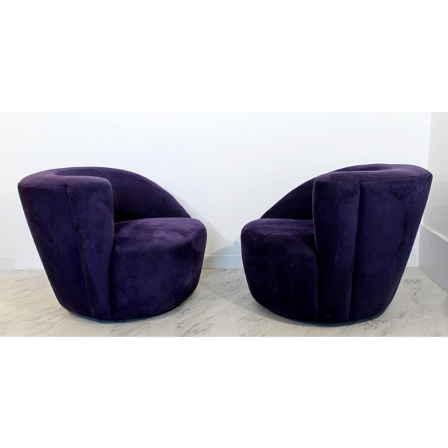 1980s 1980s Vintage Contemporary Vladimir Kagan Corkscrew Swivel Chairs- A Pair For Sale - Image 5 of 9