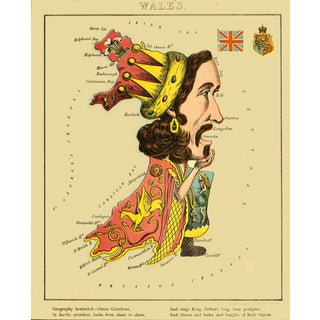 1869 Geographical Fun: Wales in the Form of Owen Glendowr For Sale