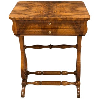 1820s Biedermeier Sewing Table For Sale