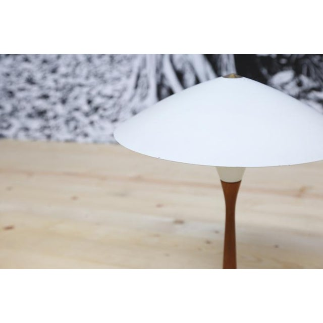 Asian Chinese Hat Style Scandinavian Table Lamp For Sale - Image 3 of 5